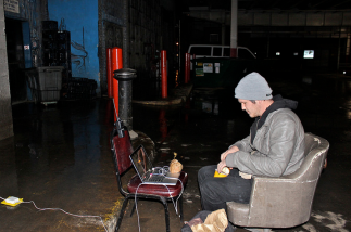 Sudduth works at a music venue in the River North neighborhood that occasionally requires him to watch equipment at a loading dock under the streets of Chicago. This environment is home to many rats, which Sudduth constantly sees while on the clock.